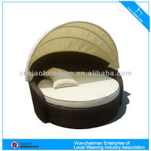 Outdoor rattan furniture lightweight beach round sun bed