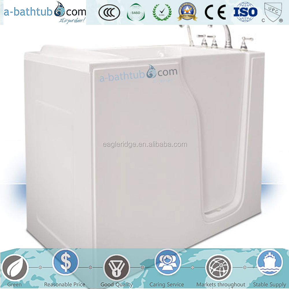 Wholesale portable walk in bathtub,elderly walk in bathtub, cheap fiberglass bathtub