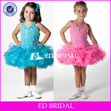 rsw0133 2013 New Style Halter Organza Mini Cheap Little Girl Pageant Dresses