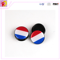 Resin round mixed size Ear Tunnels The national flag Luxembourg piercing Gauges Plugs body jewelry EKW13