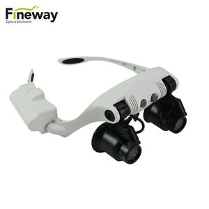 FW9892GJ-3A Binoculars Head Wearing Jewelry Magnifier with Light for Engraving Crafts