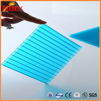 colored hollow pc sheet,Polycarbonate hollow board/panel/sheet for building roof