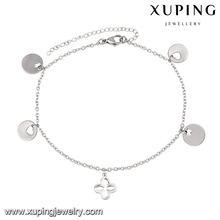 74530-xuping indian jewelry anklet,steel locking anklet,925silver custom anklet