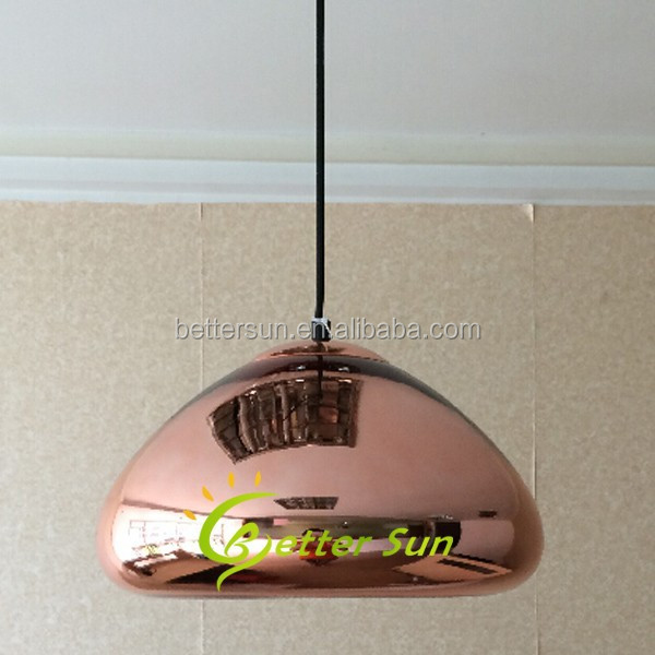 Antique Copper Glass Ceiling Lamp led Modern Pendant Light