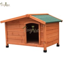 "48"" Wire Folding Pet Crate Fir Wood Dog Cage With Bituman Roof"