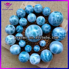 larimar beads wholesale Natural larimar stone Round cabochon Beads 4 6 8 10mm