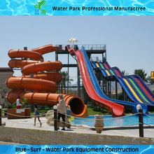 High Quality Colorful Combination Fiberglass Big Water Slides for Sale