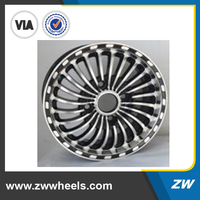 ZW-Z523 gun metal car alloy wheel with full size