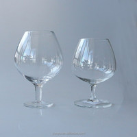 Decorative clear handblown snifter French brandy cognac glass