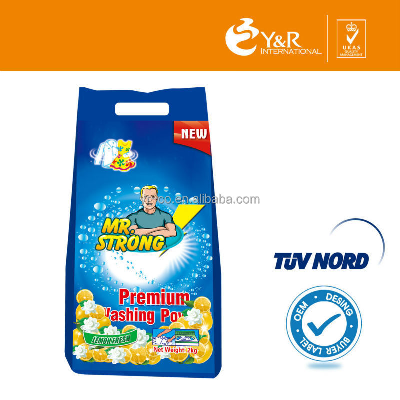 Best selling chemical formula of washing powder