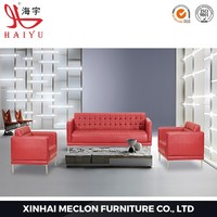 Top Sale Red Furniture 3 2 1 modern latest sofa designs