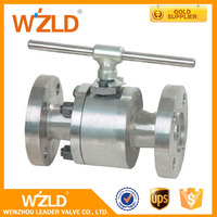 "WZLD API 6D , API Q1 Certificate Worm Gear 1/2"" Forged Steel Metal To Metal Ball Valve"