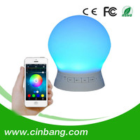 Portable Wireless Bluetooth Speaker Colorful LED lights Support TF card indoor Speaker
