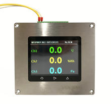 3 in 1 Digital temperature humidity differential pressure level TFT LCD display transmitter for clean room