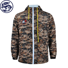 Wholesale cotton winter warm down camo jacket with hood for man