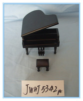 handmade piano shape gril's wooden music box