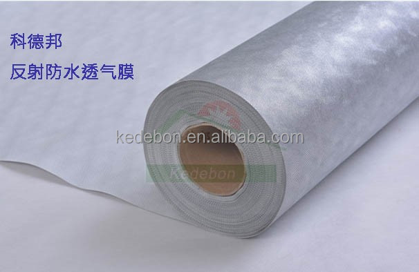 aluminizing breathable house wrap with thermo reflection