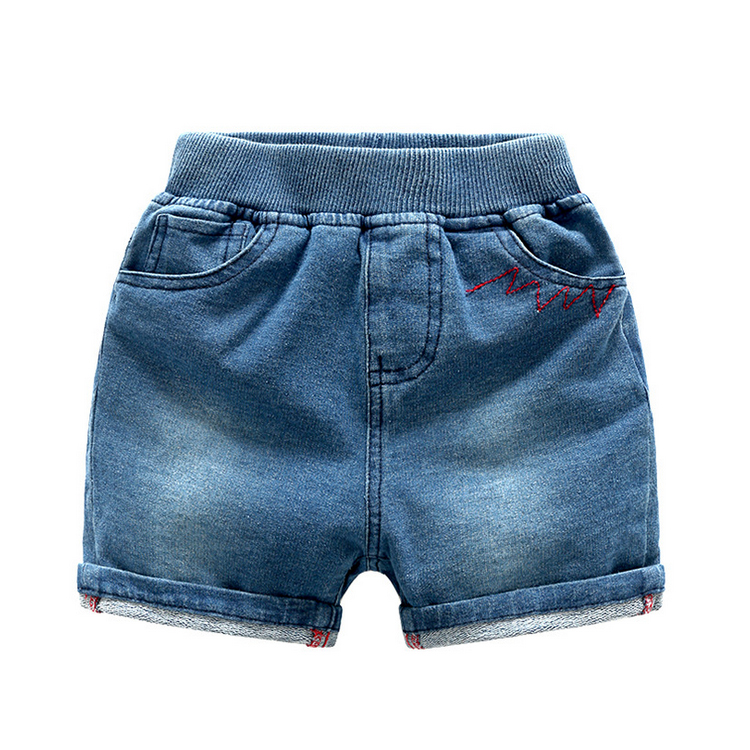 2017 new design chlidren short trousers jeans kids