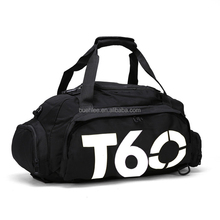 manufactory custom high quality waterproof Yoga duffel travel sport gym bag with shoe compartment