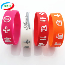 Cheap OEM Brand Custom Logo Silicone Bracelet and Wristbands