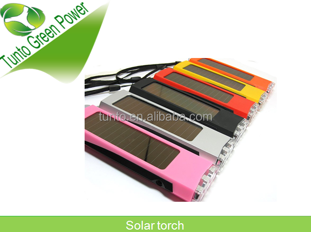 0.4W 4V integrated solar panel Solar torch,lighting can be handheld or hung up