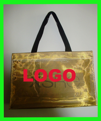 2015 Eco- Friendly Portable Metallic Color Shopping Bag polyester/nylon mesh shopping bags wholesale