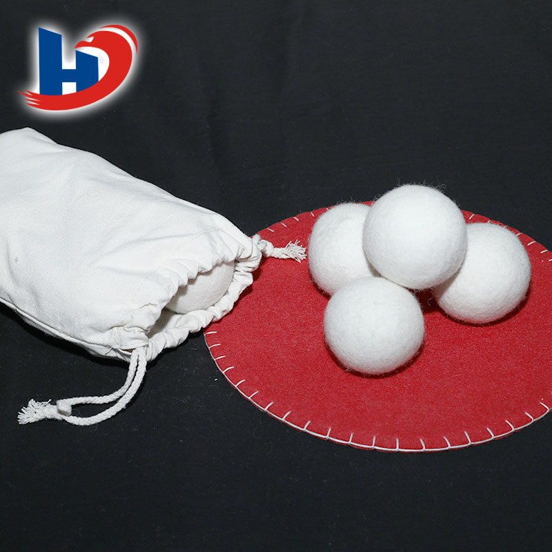 Quick dry water absorption wool laundry felt balls