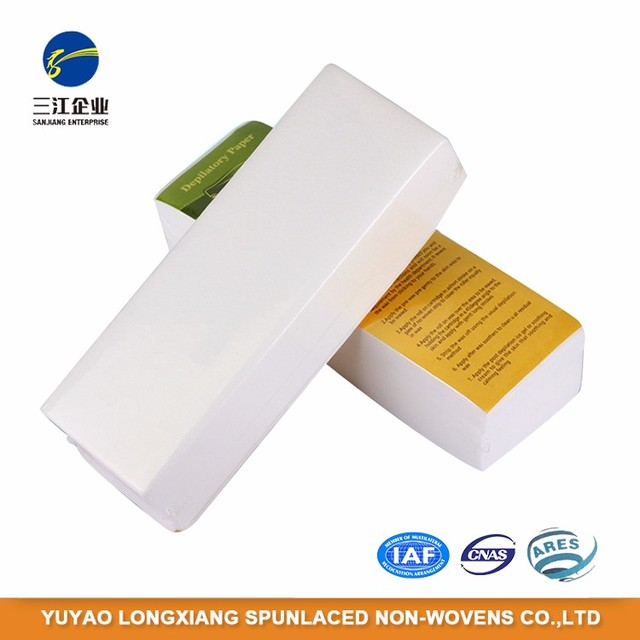 Hot Selling Good Quality Nonwoven Strips Spunlace Depilatory Paper Wax Strips Roll For Hair