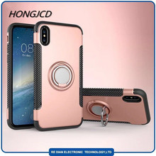 2018 new product 360 degree Ring Holder Cell Phone Case air vent Cell Phone Case for Iphone8