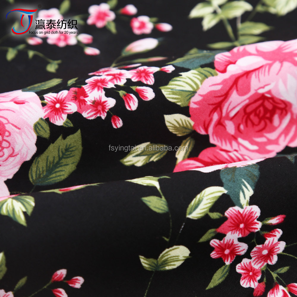 high grade 40s 100% cotton poplin printed fabric for girl dress