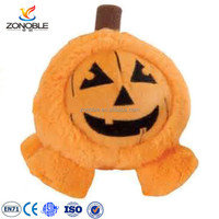 Cheap halloween gift plush stuffed pumpkin toy promotional party accessory plush pumpkin