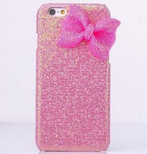 For iphone 6 mobile cases and covers,bowknot phone case for iphone 6 with glitter