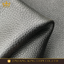 Litchi grain finished microfiber synthetic leather