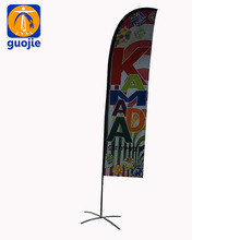 custom beach flag and stand/advertising bow banners/teardrop feather flags