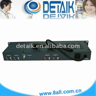 JM-860 4 Channels Fixed Modulator / radio broadcast equipment SAW Filtered TV Modulator