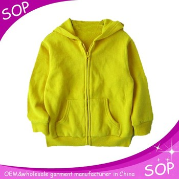 Kids blank cotton hoodies children clothing overseas