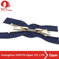 NO.8 custom length finished double slider zipper