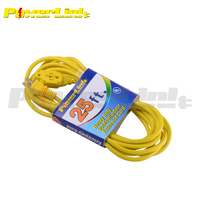 S60194 50ft Electric Extension Cord Indoor/Outdoor Heavy Duty 16 AWG 3 Wire Grounded