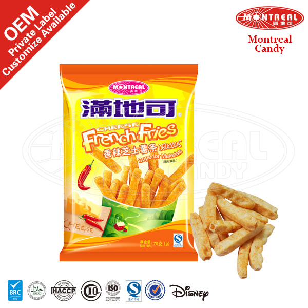 French fries snack crispy food with cheese flavor