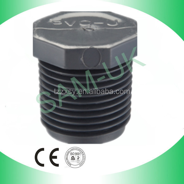 Name of Plastic Raw Material PVC SCH80 Male Plug for Square Tubing