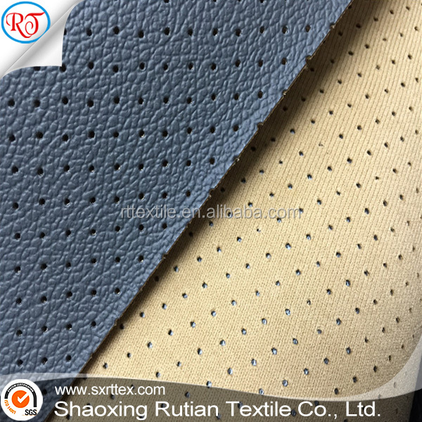 Embossed PVC Punched Leather For Car Seat Or Sofa