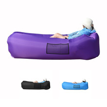 China factory direct sell Sleeping inflatable Lounger Air Bag Hangout Bean Bag Camping Beach