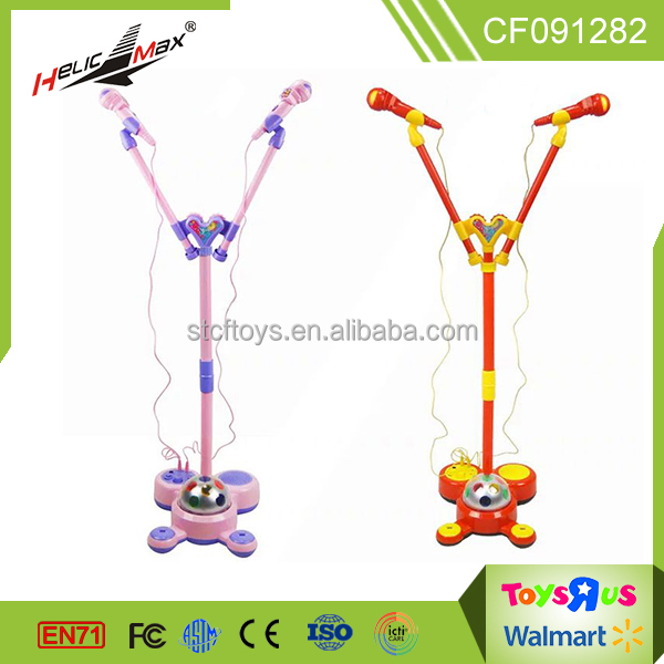 new product children karaoke sing adjustable height design double microphone