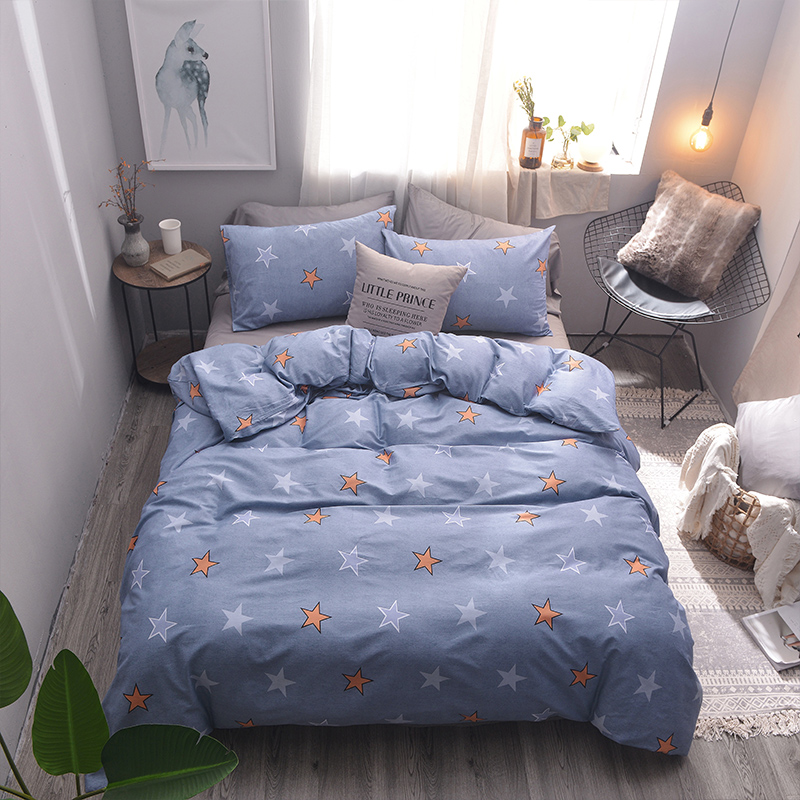 Luxury high quality 100% cotton blue printed comforter bedding <strong>sets</strong> for home hotel