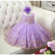 2016 Girls Sequins Wedding Dress Tulle Tutu Ball Gown Princess Party Dresses European Style Kids Flowers Dresses LW003