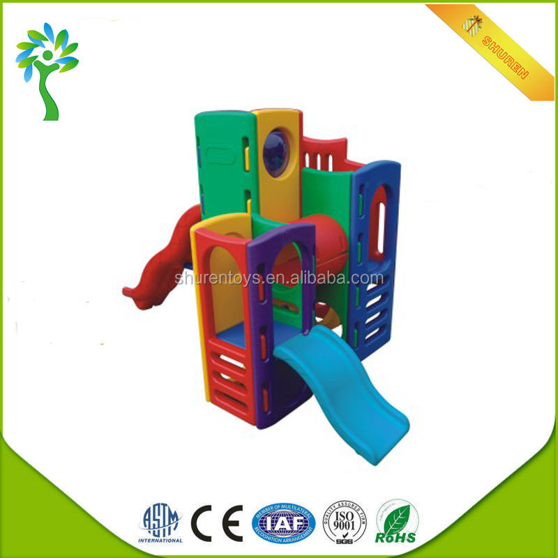 Kindergarten kids indoor new plastic play centre amusement parks slide games for sale