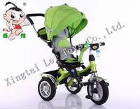 Popular children tricycle kids 3 Air wheels pedal car with canopy/Baby Tricycle 4in 1/Cheap Kid Tricycle bike with round control