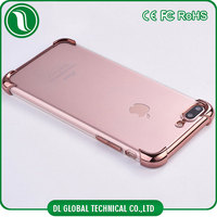 4 airbag corner protective shell clear soft tpu case for iphone 6 with 3D laser etching