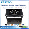 ZESTECH CE certification and 8 inch in dash Car dvd for Honda Accord 8 2008 2009 2010 2011