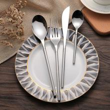 European Style Stainless Steel Knife Fork & Spoon Plating Gold 4pcs Flatware Sets For Hotel Restaurant Home